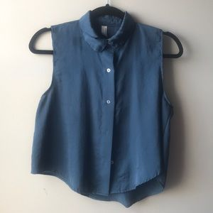 American Apparel cropped button up